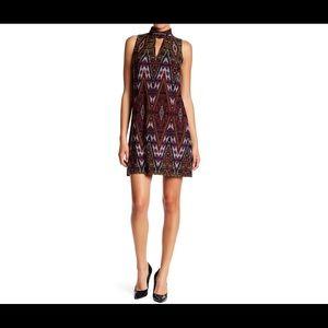 Litebright Tile Mock Neck Shift Dress (14P)
